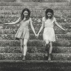 The first step is also the last. - Identical twins Layla and Jesse Fraser Identical Twins, Sister Friends, First Step, The One, Sisters, Dresses, Fashion, Vestidos, Moda