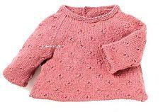 вязание спицами для детей - кофточка-платье для младенца