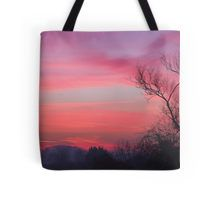 Tote bag, pink sunrise, In stock