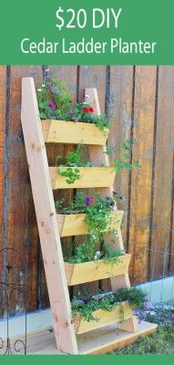 The Homestead Survival | Cedar Vertical Tiered Ladder Garden Planter | http://thehomesteadsurvival.com _ homesteading - gardening