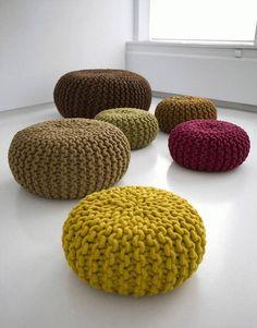 Stuffed merino wool mustard/beige/bordeaux/brown/grey knitted