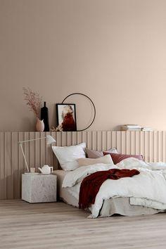 apricose wandfarbe schlafzimmer farben tendenzen - Kopfteil Plant Knig