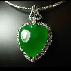 RP: Diamond Halo Jade Pear Pendant | eBay.com.au