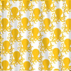 Custom Octopus Shower Curtain by redbeauty