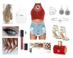 A fashion look from February 2018 featuring sexy tops, short shorts and white shoes. Browse and shop related looks. Apm Monaco, Bare Escentuals, Tiana, Carolina Herrera, Venus, Polyvore Fashion, Shoe Bag, Clothing, Stuff To Buy