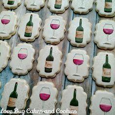 Wine cookies // lovebugcookies