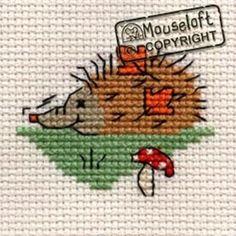 Mouseloft Mini Cross Stitch Kit  - Snuffling Hedgehog