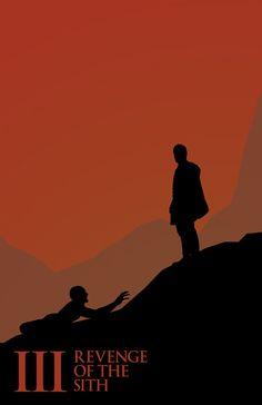 Star Wars - Saga Silhouette Poster Art