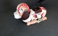 Vintage Tin Wind Up Dog Brown White Japan Beagle Dachshund Hound | eBay