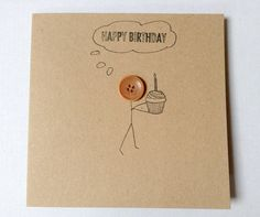 A personal favourite from my Etsy shop https://www.etsy.com/uk/listing/467871888/button-birthday-cards-cute-button-card