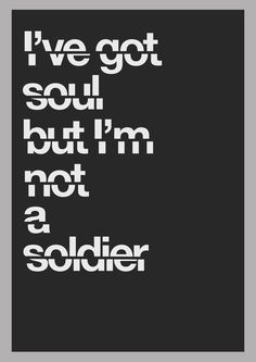 """The Killers - Lyric Poster """"All These Things That I've Done"""" #soul #blackandwhite"""