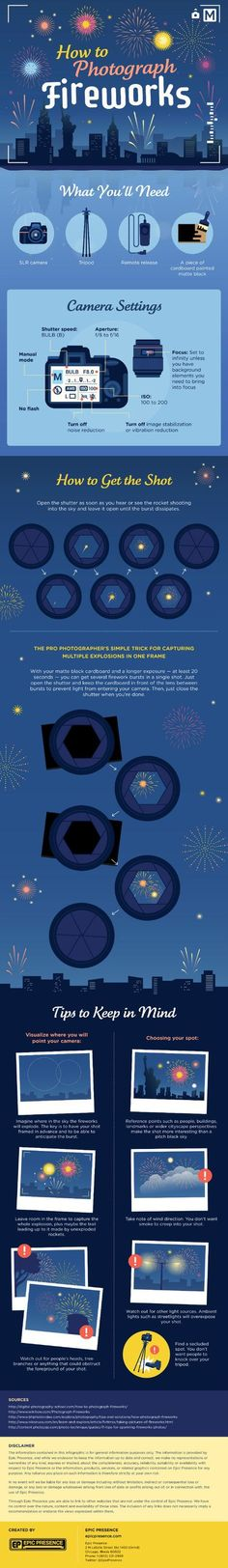 Better Pictures - Tips You Can Use to Take Better Photos of Fireworks To anybody wanting to take better photographs today Photography Cheat Sheets, Photography Basics, Photography Lessons, Photography Camera, Night Photography, Photography Business, Photography Tutorials, Digital Photography, Amazing Photography