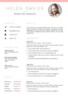 Cv template, Resume design, Cover letter template, Resume template, Creative cv template, Letter templates - Creative CV template + matching cover letter template  2 page modern cv template, 2 color v -  #Cvtemplate
