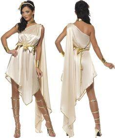 Ladies Fever Roman Greek Goddess Toga Fancy Dress Costume Size 8 - 10. Small