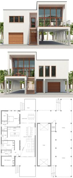 Modern Beach House Plans, Beach Home Plans Best Picture For country beach house decor For Your Taste You are looking for something, and it is Beach House Floor Plans, Coastal House Plans, Cottage House Plans, Craftsman House Plans, Modern House Plans, Modern House Design, Plans Architecture, Modern Architecture House, Architecture Design