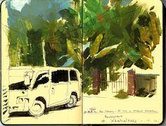 Dice Tsutsumi - Sri Lanka sketchbook