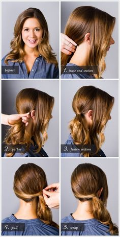 Step by step instructions for the perfect side ponytail