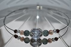 NEW! UUTTA!  Glass bead necklace short / Lasihelmi kaulakoru lyhyt