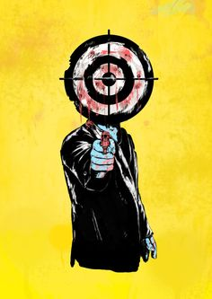 Poster | THE REVENGE von Balazs Solti | #poster #design #illustration #balazssolti #bsolti #art #artwork #drawing #gun