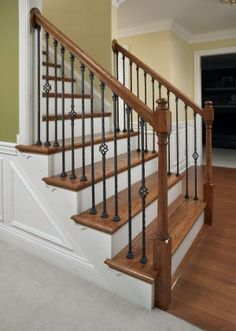 Best Craftsman Staircase With High Ceiling Wainscotting Chair 640 x 480
