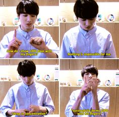 Course he does, he's the golden maknae