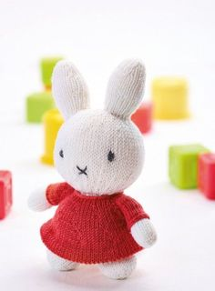 Drum roll please... Introducing our very special exclusive Miffy pattern. Everyone loves Miffy the sweet, smart, cute little bunny and now you can knit your own along with her signature dress!