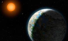 Exoplaneta   (concepção artistica) gliese 581g