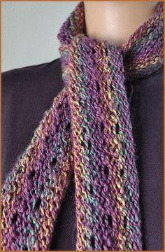 Mendocino Skinny Scarf - 1 ball - free knit scarf pattern - Crystal Palace Yarns