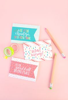 Easy Gift Card Holder + Free Printables