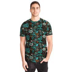 Most Stylish Men, Stylish Man, Graffiti Designs, Best T Shirt Designs, Fitness Design, Cool T Shirts, Street Wear, Light Blue, Short Sleeves