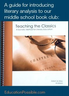 Ideas for a Middle School Book Club, book choices and how to introduce literary analysis