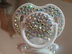 Crystallized Bling Baby Fashion Pacifier , Pacifiers, Infant, keepsake  http://www.fashionblings.com