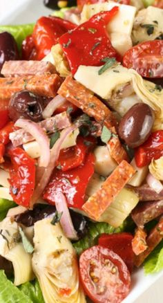 Antipasto Salad with Red Wine Vinaigrette (cheese on the side)
