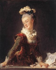The ballerina Marie-Madeleine Guimard,1769 by Fragonard.  Guimard was one of the most famous ballerinas in 18th Century Europe and a favorite at the court of Louis XVI.  She is known for her grace, beauty, and her long love affair with the prince de Soubise.