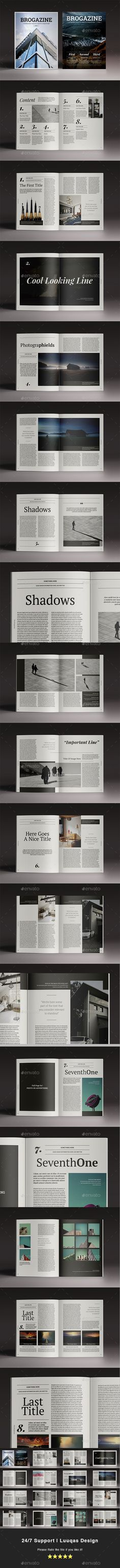 Blackazine Indesign Template | Indesign templates, Template and Graphics