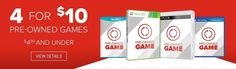 GameStop: Select 4 Pre-Owned Video Games Titles: Vintage Software PS3 Xbox 360 3DS & More (Priced $4.99 or Le... #LavaHot http://www.lavahotdeals.com/us/cheap/gamestop-select-4-pre-owned-video-games-titles/222073?utm_source=pinterest&utm_medium=rss&utm_campaign=at_lavahotdealsus