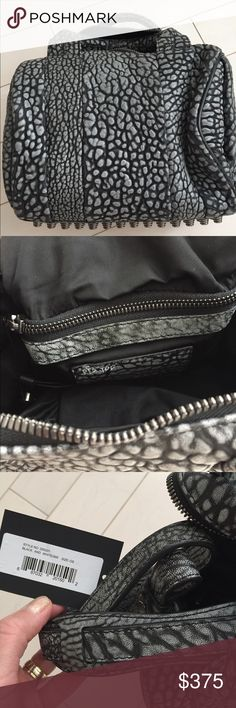 Alexander Wang Rockie NWT Comes with dust bag. There is small writing on the inside that should come off with nail polish remover (I did that on my bags). No trade Alexander Wang Bags