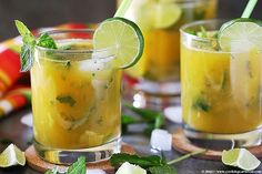 This Mango Ginger Virgin Mojito is the perfect combination of Mint, Mango and ginger. This drink is perfect for sipping by the pool and enjoying the hot....
