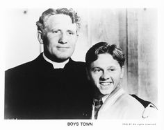 Spencer Tracy and Mickey Rooney in Boys Town 1938
