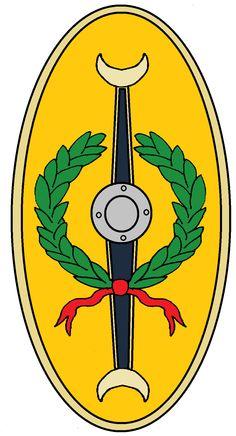 Roman Auxiliary Shield Cohort 1 Flavia Hispanorum