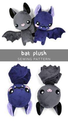 Nähtipp: Fledermaus Freebook bat plush