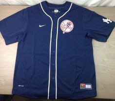 new styles 55ecf c872d New York Yankees Derek Jeter  2 MLB Baseball Jersey Nike Youth Blue Medium  M   eBay