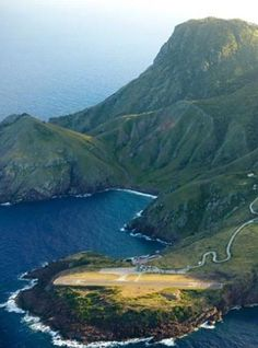 Saba Island, in the Netherlands West Indies (Caribbean Islands) has the shortest international landing strip in the world!