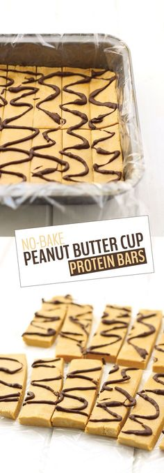 All you need is 5 ingredients and 25 minutes to make these No-Bake Peanut Butter Cup Protein Bars. They're simple, delicious snack recipe, packed-full of protein with 12 grams in each bar! (some of the best bnb protein bars ive had! Yummy Snacks, Snack Recipes, Dessert Recipes, Yummy Food, Thm Recipes, Healthy Recipes, Recipies, Paleo Dessert, Muffin Recipes