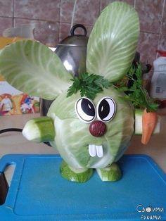 Ideas For Fruit Salad Decoration Healthy Vegetable Crafts, Vegetable Animals, Fruit Animals, Vegetable Carving, Fruit Salad Decoration, Fruit Decorations, Food Decoration, Crafts To Make, Crafts For Kids