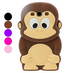 3D Animal Cartoon Monkey Soft Silicone Case for the Samsung Galaxy S3 S III i9300-Galaxy 3 cases