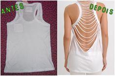 DIY - Camisa cortada