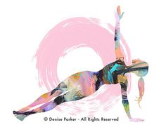 Yoga Art SIDE PLANK POSE   Large Yoga Wall Art Yoga by YogaColors