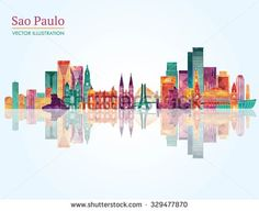 Sao Paulo detailed skyline. Vector illustration - stock vector