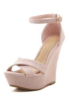 Ardo Wedge Ankle Strap Sandal//